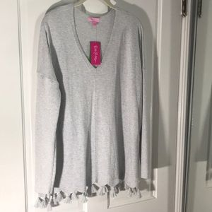 Baby grey Lilly Pulitzer sweater NWT